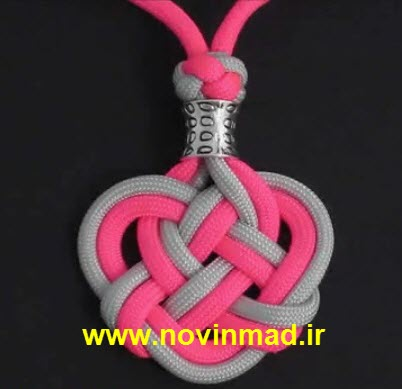 فیلم آموزش بافت گردن آویز با بافت دوبل طناب Double Knot