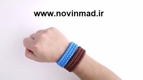 فیلم آموزش پروژه کاروفناوری بافت دستبند فانتزی با طناب Easiest Bracelet